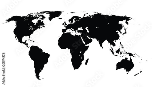Clean Vector World Map
