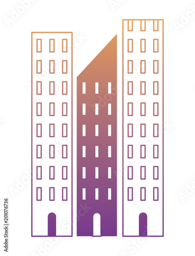skyscraper of Paseo de la Reforma over white background, colorful design. vector illustration