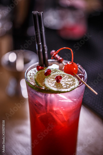 Close up of refreshment drink