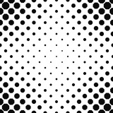 Abstract black and white octagon pattern background