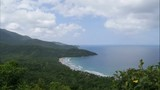 Overview of Nagtabon Beach from hill top, time lapse - 201088110