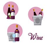 Wine round icons - 201096518