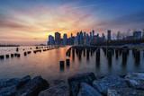 View on Manhatten skyline in New York