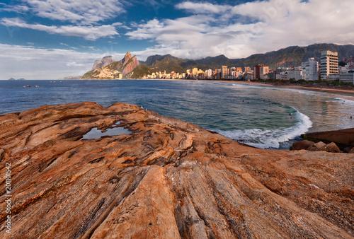 Aluminium Rio de Janeiro Ipanema beach in Rio de Janeiro, scenic panorama, Brazil.