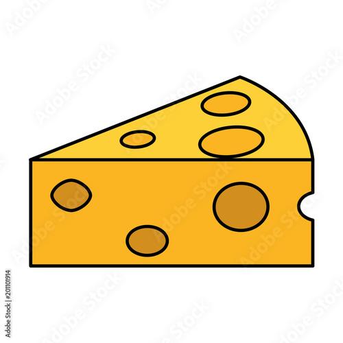 kawałek sera kawałek dziury jedzenie ilustracji wektorowych
