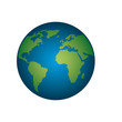 world planet ecology icon vector illustration design