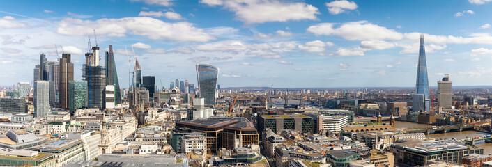 Panorama der neuen Skyline von London, Großbritannien