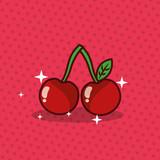cherry nutrition diet fresh image vector illustration - 201105758
