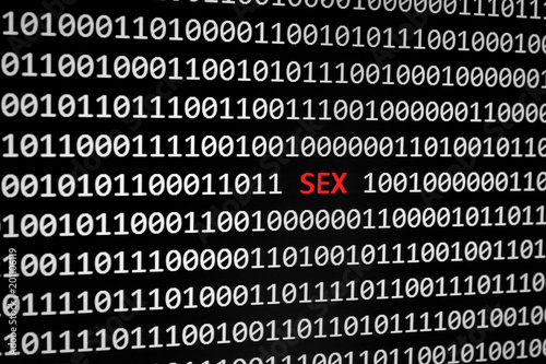 binary code and sex text - 201106119