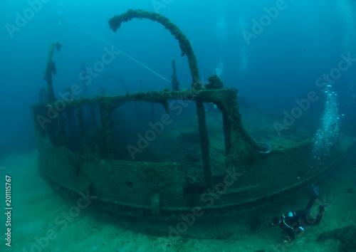 Canvas Schipbreuk Scuba Diving Malta - Scotscraig Wreck