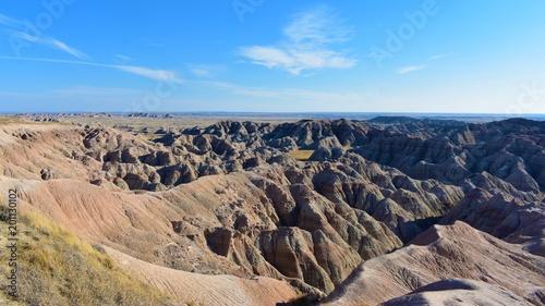 Plexiglas Zalm Geology and natural wonders of Badlands National Park, South Dakota