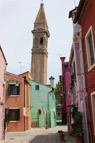 tour inclinee burano venise
