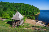 old wooden Fort on a shore - 201143973