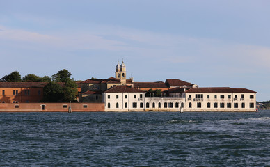 Venice Italy Buildings of the Benedictines in San Servolo Island