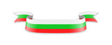 Bulgaria flag in the form of wave ribbon. - 201156939