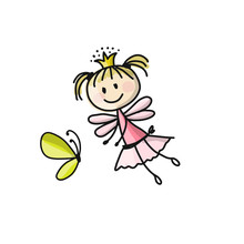 Cute Little Fairy Sketch For Your Design Sticker