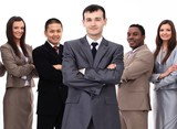 portrait of multiethnic business team - 201163558
