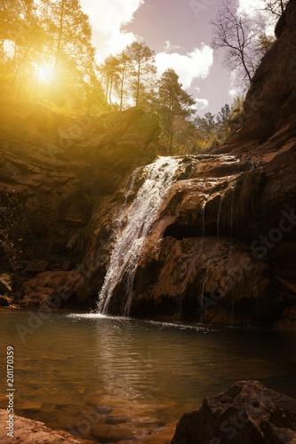 Foto Murales El Torrent de la Cabana small mountain stream