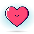 Love icon icon on the blue background. Vector, illustration, eps 10. - 201173701