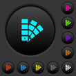 Color swatch dark push buttons with color icons