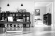 Neugestaltung im Büro (schwarz-weiß)