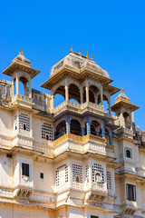 Decorations detail of Udaipur city palace.
