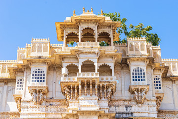 Detail of Udaipur city palace.