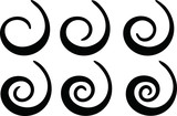 Black Spiral shape set - 201185593