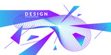 Abstract background with dynamic linear waves. Vector illustration