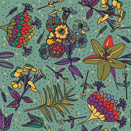 Seamless floral pattern. - 201196973