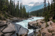 View of the mountain river. Banff National Park Canada