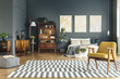 Spacious bright bedroom