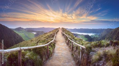 Mountain landscape Ponta Delgada island, Azores