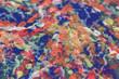 Постер, плакат: Абстрактные разноцветные пятна краски на акварельной бумаге крупным планом