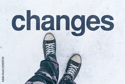 Changes in life, conceptual image