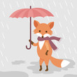 A fox with an umbrella. - 201216198