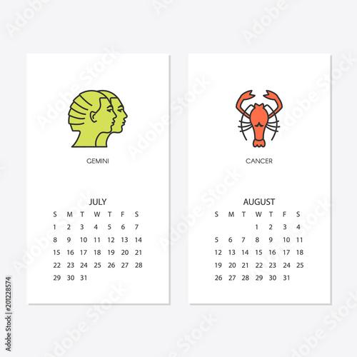2018 new year calendar