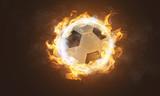 Brennender klassischer Fußball