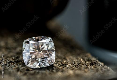 Diament na skórze