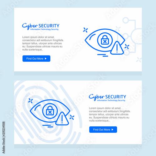 Wektor projektu baner zabezpieczeń cybernetycznych