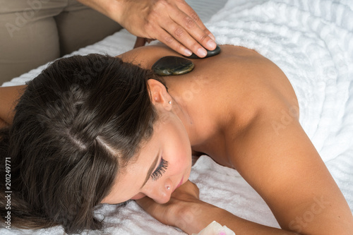 Woman Getting Massage - 201249771