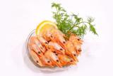 boiled shrimp with lemon - 201250740