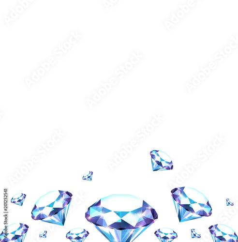 Tło z diamentami
