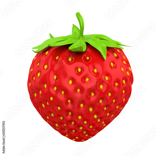 Sticker Strawberry Isolated