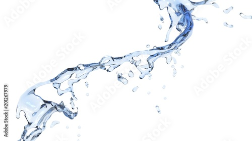 Small flow of fresh pure water