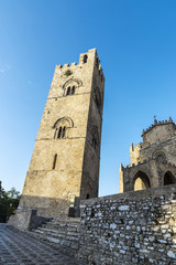 The main church of Erice, Sicily, Italy