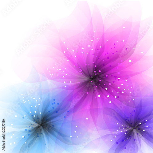 Wall mural Vector background with pastel flowers