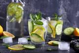 лимонад со свежим огурцом,лимоном и мятой - 201279107