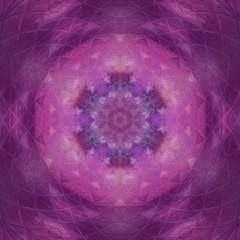 Abstract kaleidoscope watercolor texture background. Purple grunge creative artwork. Sacred geometry art.