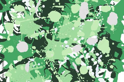 Green shades, white, beige camouflage background